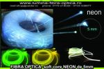 Fibra optica NEON 5mm  sul de 50m